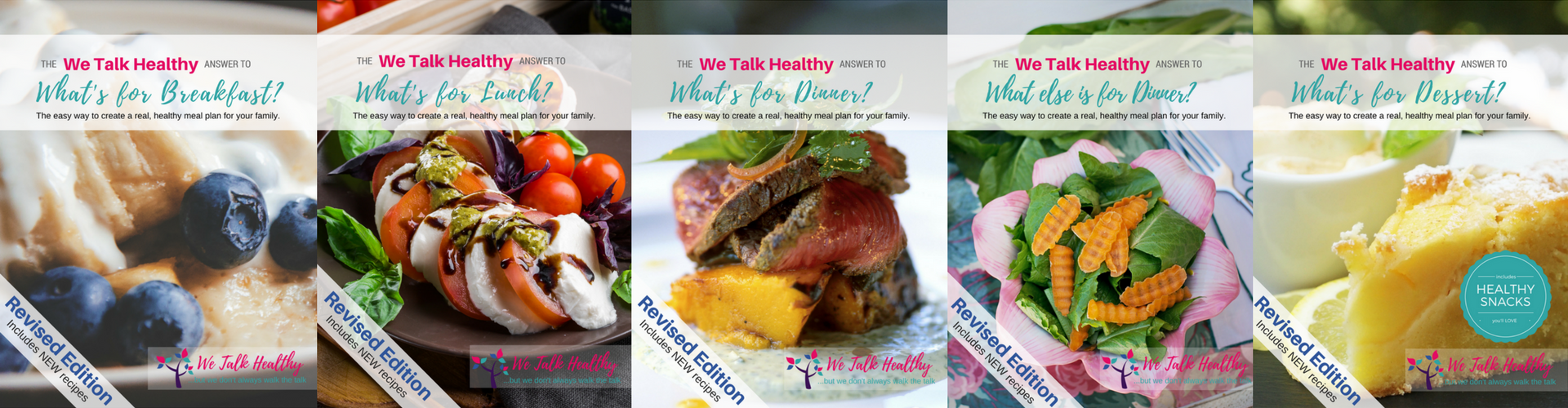 Revised We Talk Healthy Cookbooks